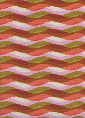 WILDLIFE Cotton + Steel Poolside - waves - pink - 50cm