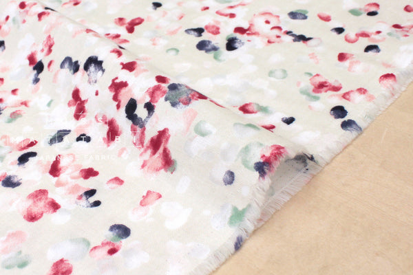 Japanese Fabric double gauze - watercolor floral - B - 50cm