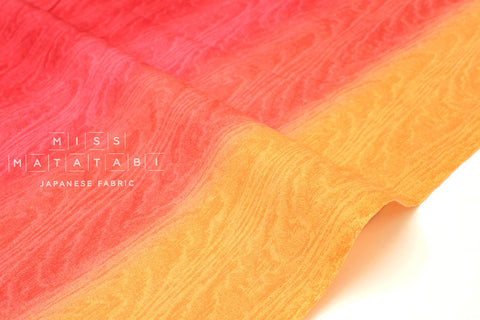 Japanese Fabric Moare Ombre - red, orange - 50cm
