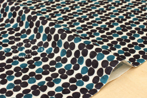 Japanese Fabric Kokka Pebbles double gauze - teal - 50cm