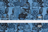 Cotton + Steel Eclipse - wise owls - blue - fat quarter