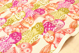 Cotton + Steel Firelight - wise owls - fuchsia - fat quarter