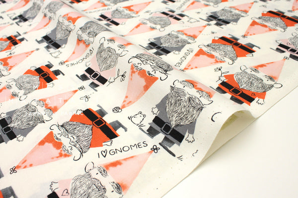 Cotton + Steel Front Yard - gnomes - red - fat quarter