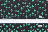 Cotton + Steel Front Yard - clovers - teal - 50cm