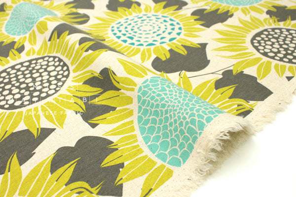 Cotton + Steel Front Yard canvas - sunflowers - yellow - fat quarter