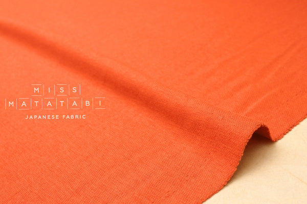 Japanese Fabric Linen Blend Wave Knit - orange red - 50cm