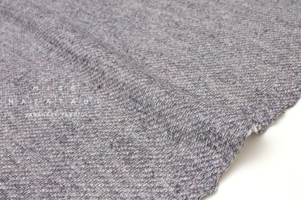 Japanese Fabric Rayon French Terry Knit - grey - 50cm
