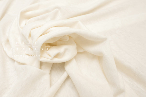 Japanese Fabric Silk Tenjiku Jersey Knit - cream - 50cm