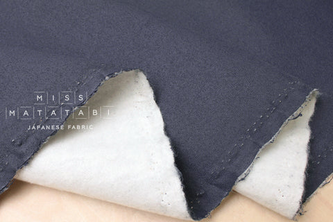 Japanese Fabric Brushed French Terry Knit - blue - 50cm