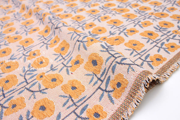 Japanese Fabric Gobelin Jacquard - Antique yellow - 50cm