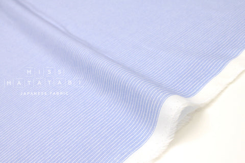 Japanese Fabric Silk blend lawn - white on blue - 50cm