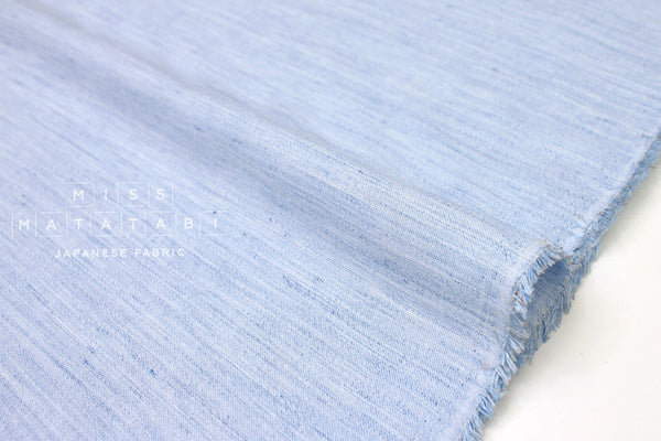 Japanese Fabric Linen Chambray - blue - 50cm