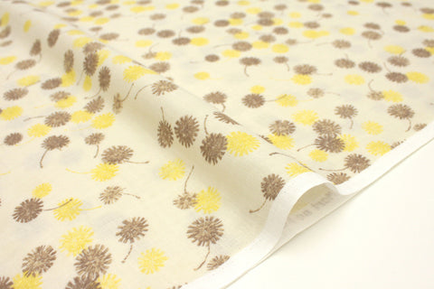 Japanese Fabric Kokka Mori no Kakera - dandelion - yellow - 50cm