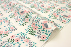 Japanese Fabric Creator's Room Fabrics - bird tiles cream - 50cm