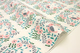 Japanese Fabric Creator's Room Fabrics - bird tiles cream - fat quarter