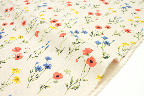 Japanese Fabric Poppies - natural - 50cm
