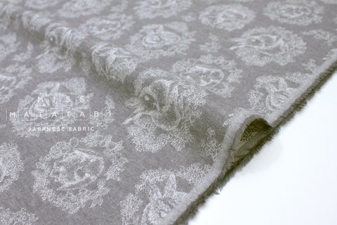 Japanese Fabric Kokka Usagi Jacquard - grey - 50cm