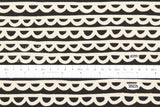 Japanese Fabric See Design - garland - black - 50cm
