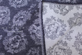 Japanese Fabric Kokka Usagi Jacquard - navy blue - 50cm