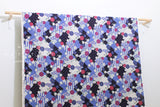 Japanese Fabric Kokka Retro Wa - blue, purple - 50cm