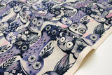 Cotton + Steel Eclipse - wise owls - night - 50cm