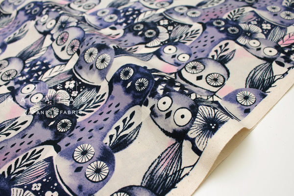 Cotton + Steel Eclipse - wise owls - night - fat quarter