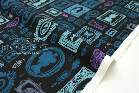 Cotton + Steel Eclipse - haunted hall - blue - fat quarter