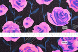 Cotton + Steel Eclipse - roses - black, metallic silver - fat quarter