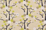 Japanese Fabric Kokka Tayutou Tree - natural, green - fat quarter