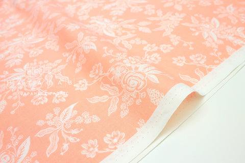 Cotton + Steel English Garden - toile peach - 50cm