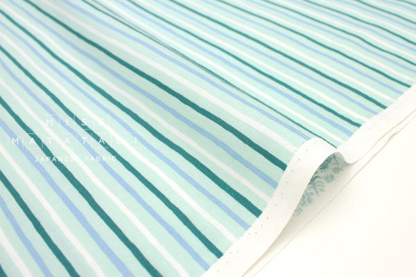 Cotton + Steel English Garden - stripes mint - fat quarter