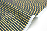 Cotton + Steel English Garden - stripes navy, metallic gold - fat quarter