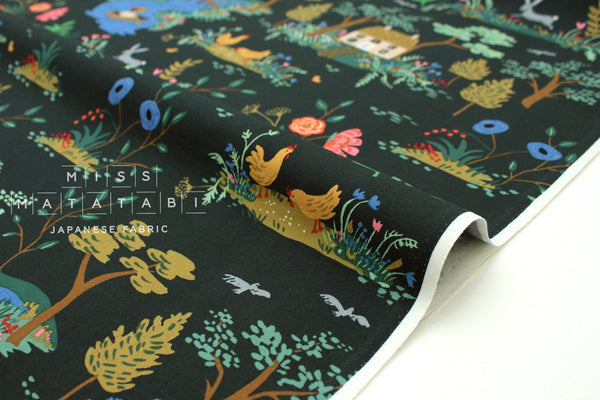 Cotton + Steel English Garden - garden toile dark - fat quarter