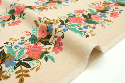 Cotton + Steel English Garden canvas - garden vines cream - 50cm