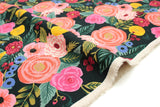 Cotton + Steel English Garden canvas - Juliet Rose navy - 50cm