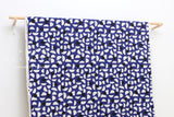 Japanese Fabric Kokka Ellen Baker Stencil - Slices - blue, black - 50cm
