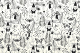 Cotton + Steel Front Yard - garden - black - fat quarter