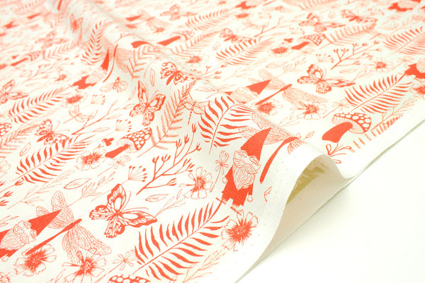 Cotton + Steel Front Yard - garden - red - fat quarter