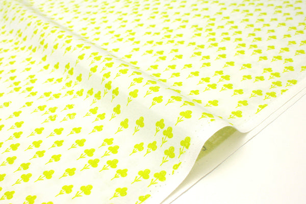 Cotton + Steel Front Yard - clovers - yellow - 50cm