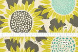 Cotton + Steel Front Yard canvas - sunflowers - yellow - 50cm