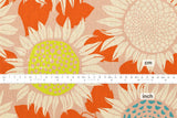 Cotton + Steel Front Yard canvas - sunflowers - pink - fat quarter