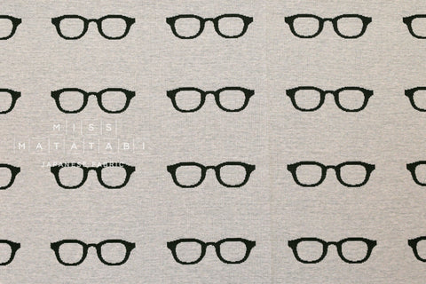 Japanese Fabric Echino Knit - nico glasses - 50cm