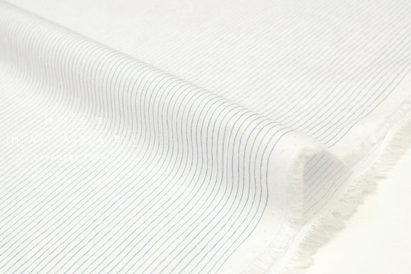 Japanese Fabric Silk blend lawn - blue on white - 50cm