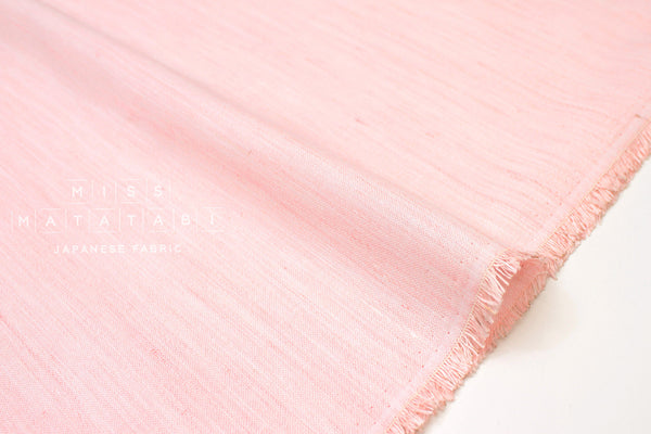 Japanese Fabric Linen Chambray - pink - 50cm