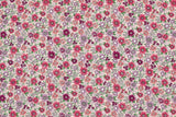 Japanese Fabric Corduroy Flower Burst - pink - 50cm