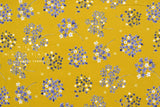 Japanese Fabric Corduroy Wild Flower Bouquet - mustard - 50cm