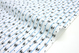 Japanese Fabric Kokka Tiny Boston Terriers - blue, white   - 50cm