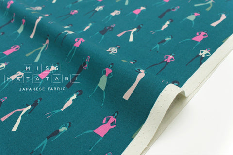 Cotton + Steel Akoma - Look Book - teal - fat quarter