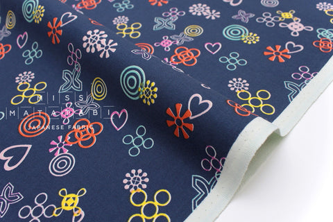 Cotton + Steel Akoma - Symbolic - navy - 50cm