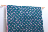 Cotton + Steel Akoma - Wildflower - teal - teal